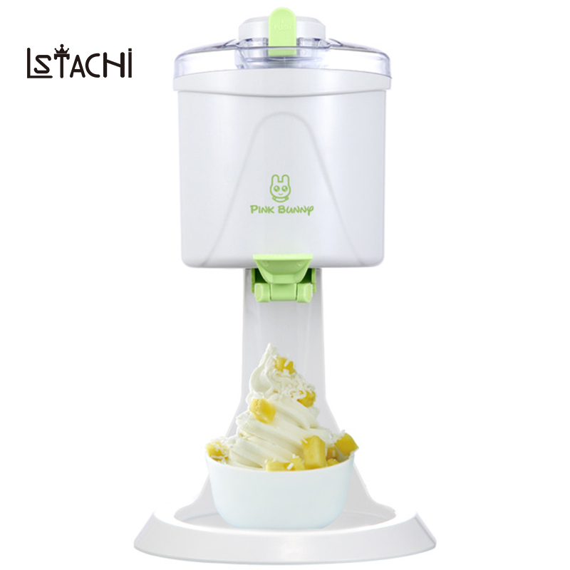 LSTACHi Hot Sale soft service ice cream machine ice cream maker old fashioned ice cream maker household with free shipping free shiping fried ice cream machine 75 35cm big pan with 5 buckets fried ice machine r22 ice pan machine ice cream machine