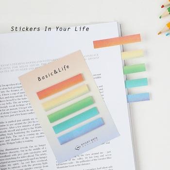 36 sztuk partia podstawowy wzór karteczki samoprzylepne Rainbow kolor memo Mini post artykuły papiernicze artykuły biurowe artykuły szkolne A6910 tanie i dobre opinie Podkładki memo Dekoracji rainbow note VALIOSOPA