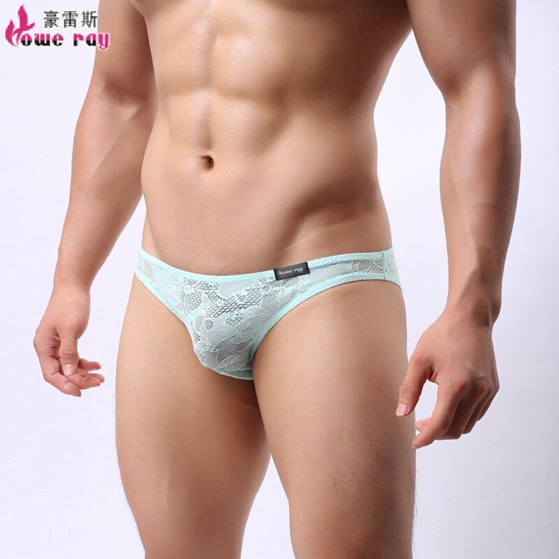 underwear men through lace See