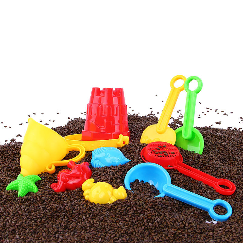 New Small-size Beach Bucket Set Multi-piece Set With Sand Shovel Small Sand Mold Play Sand Play Water Tools Children's Toys