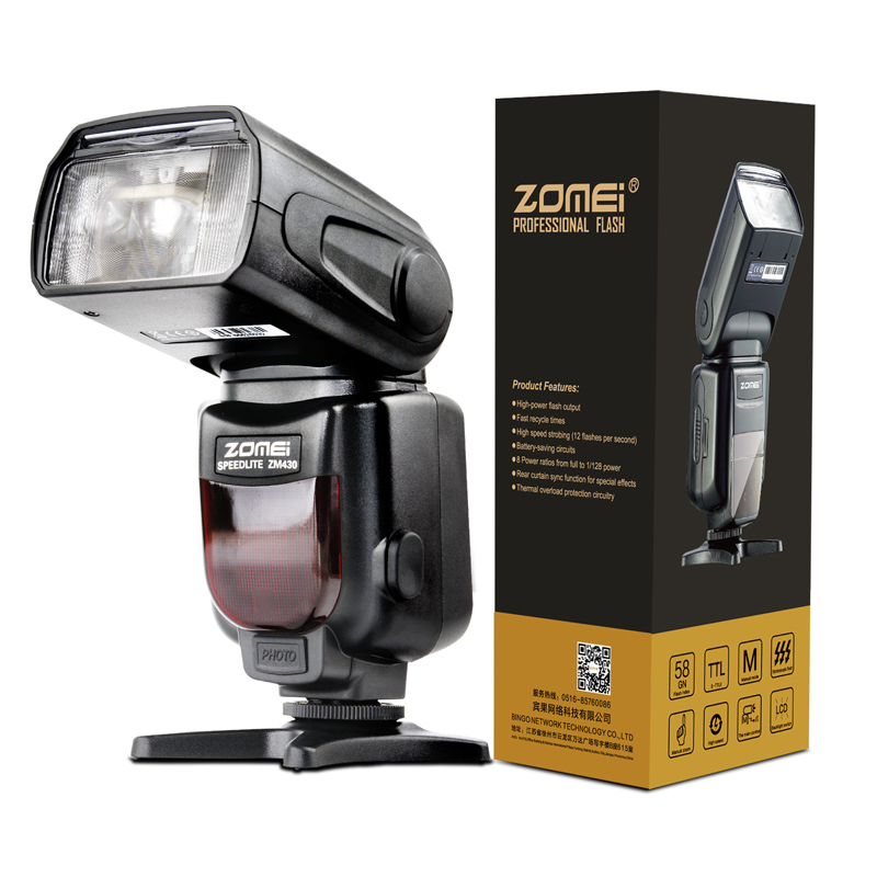 Zomei ZM430 Professional Manual Speedlite Speedlight Flash with LCD Display & Hard Flash Diffuser for Canon Nikon DSRL Cameras