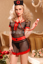 Mesh Black Sexy Nurse Costume Hollow New Porn Women Sexy Role Play Hot Erotic Lingerie Transparent Cosplay Underwear Women Sex