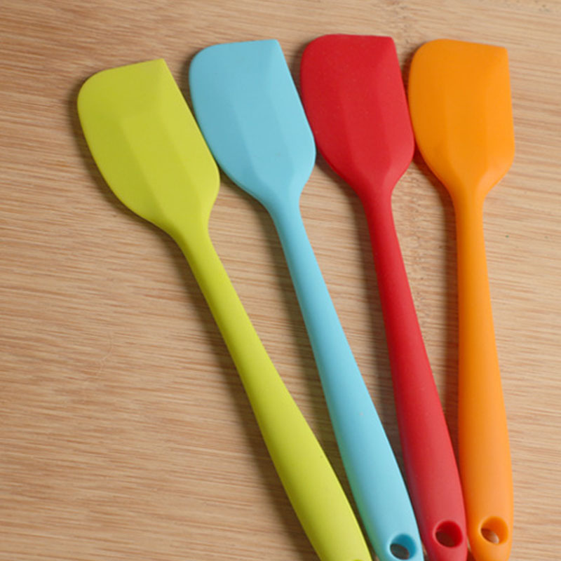 Multicolor Food Grade Non Stick Butter Cooking Silicone Spatula Set Cookie <font><b>Pastry</b></font> <font><b>Scraper</b></font> <font><b>Cake</b></font> Baking Spatula Silicone Spatula image