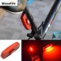 Водонепроницаемый Предупреждение ющий велосипедный светодиодный задний светильник USB Перезаряжаемый велосипедный светильник 6 режимов Кр...