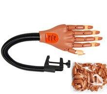 Biutee 1 ręcznie + 100 porady Pro Nail Trener Narzędzie Super Elastyczne Palce Osobiste i Salon Regulowany Praktyka Używana Paznokci szkolenia