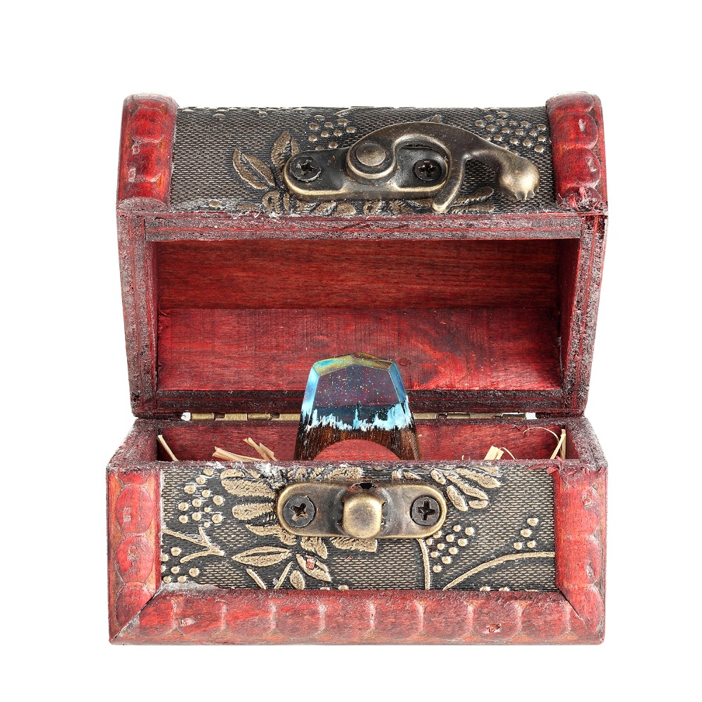 Magic ring custom high-grade wooden box (only the box does not include the ring)