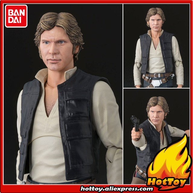 """100% Original BANDAI Tamashii Nations S.H.Figuarts (SHF) Action Figure - Han Solo (A NEW HOPE) from """"SW"""""""