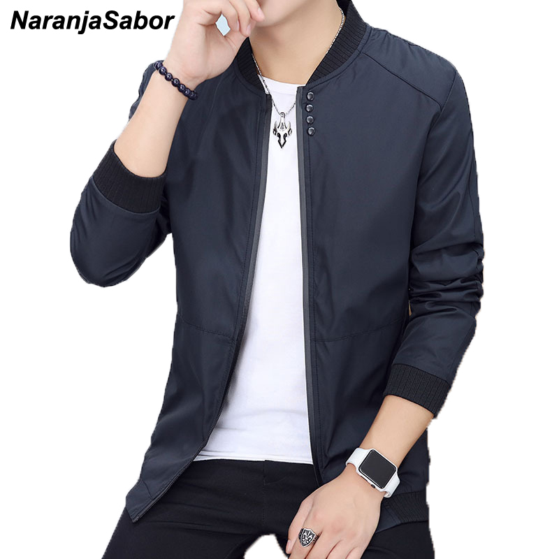 NaranjaSabor 2020 Spring Autumn Men's Jacket Bomber Jackets Male Clothes Youth Slim Pilot Flight Coat Mens Coats Baseball 4XL