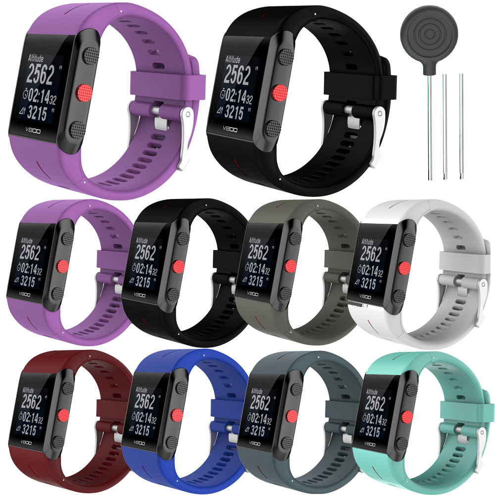 Replacement Silicone strap sport Rubber Watch Band strap belt Wrist Strap For POLAR V800 Watch 5830A цена