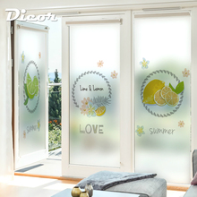 Customized Stained Static Cling Window Film Frosted Opaque Privacy Home Decor Glass Sticker Digital print BLT1170 Lemon C