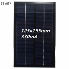 CLAITE 9V 3W Solar Panel Monocrystalline Silicon Poly EpoxySmall Solar Power Cell PV Module For DIY DC Battery Display Light