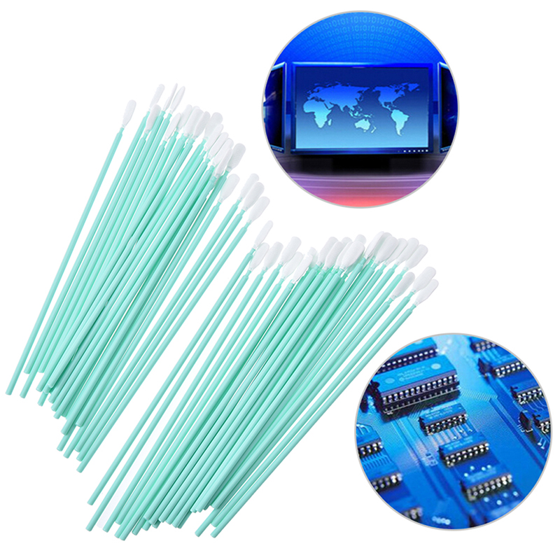 50pcs/lot Printer Cleaning Swabs Solvent Sponge Cleaning Swaps Buds Foam Printhead Wholesale