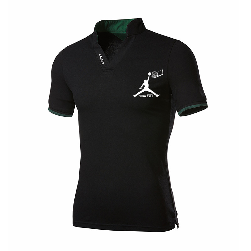 Polo   Jordan 23 Print Clothing Male Fashion Casual Men   Polo   Shirts Solid Casual   Polo   Tee Shirt Tops High Quality Slim Fit
