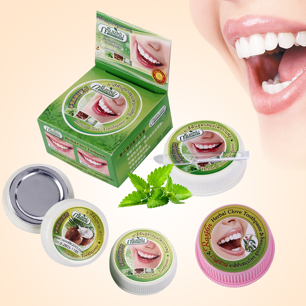 10g/25g Herb Natural Herbal Clove Thailand Toothpaste Tooth Whitening Toothpaste Antibacterial Allergic Tooth Paste