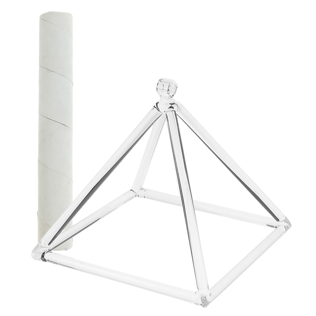 Root Chakra Quartz Crystal Singing Pyramid C Note for Meditation Prayer Relax 6 and Suede Mallet