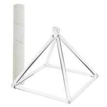 Корень чакры Кварцевый Поющая Пирамида C Примечание для медитации и молитвы расслабить 6 ''и замшевый молоток