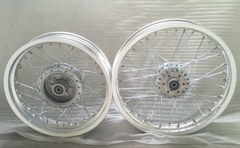 STARPAD For Suzuki GN250-spoke aluminum front and back - before and after the terms of a pair of vacuum rim bead assembly