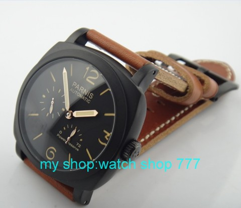 The highest quality 2016 new fashion PARNIS 47MM Asian ST2530 Automatic mechanical movement man watches Luxury