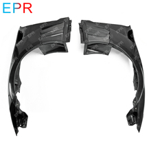 For Nissan GTR R35 Glass Fiber EPA Front Fender With Carbon Louver Fin (6 Fins, Side Maker Use F51 Fuga) Tuning Part