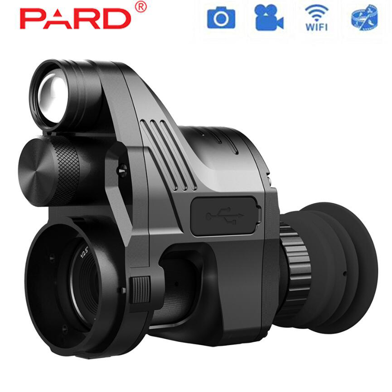 PARD NV007 200 m Gama Digital Caça 850nm Night Vision Riflescope Óptico de Wi-fi 5 W IR Infrared Night Vision Scope com o APP