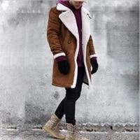 2019 Fashion Winter New Jacket Men Warm Coat Fashion Casual Parka Medium Long Thickening Coat Men for Winter Men Wool Coat