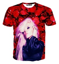 Unisex 3D T shirt Pink Hair Girl Print Cotton Tee Shirts Short Sleeve Casual Homme Loose