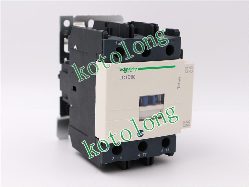 AC Contactor LC1D80 LC1-D80 LC1D80B7 24V LC1D80D7 42V LC1D80E7 48V LC1D80F7 110V new lp2k series contactor lp2k06015 lp2k06015md lp2 k06015md 220v dc