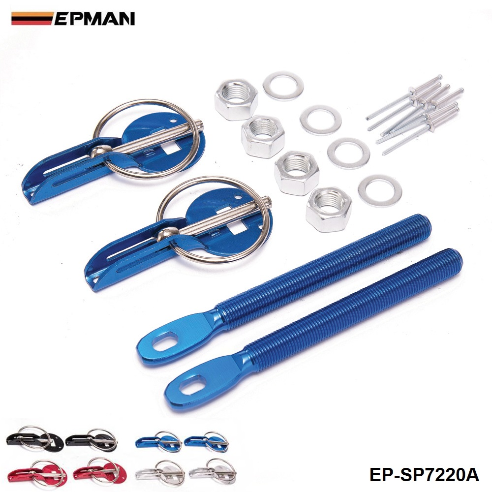 מירוץ כחול הוד מצנפת פין ערכת אלומיניום עבור כל מכוניות מנעול נעילה ספורט חדש עבור מושב 2001-2006 EP-SP7220A-Blue