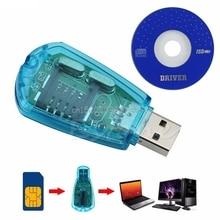 USB Мобильный телефон sim-карты Стандартный копию для чтения Cloner писатель SMS Резервное копирование GSM CDMA + CD # h029 #