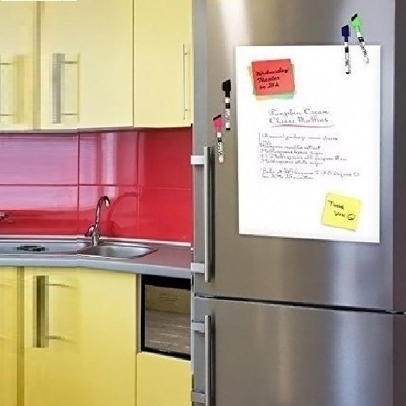 Image 5 - Smart Board Vinyl Fridge Magnet Whiteboard Magnetic Magnets Office Memo Pad Home Planner Writing Board Organiser Notepad Marker-in Fridge Magnets from Home & Garden
