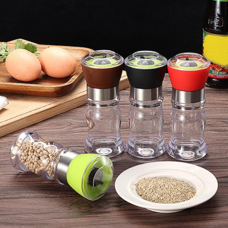 Kitchen Grinding Bottles Tools Salt Pepper Mill Grinder Pepper Grinders Shaker Spice Container Seasoning Condiment Jar Holder(China)