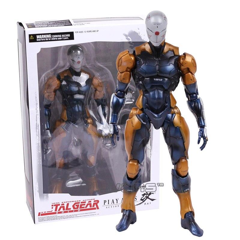 Play Arts Kai Metal Gear Solid Cyborg Ninja Gray Fox PVC Action Figure Collectible Model Toy