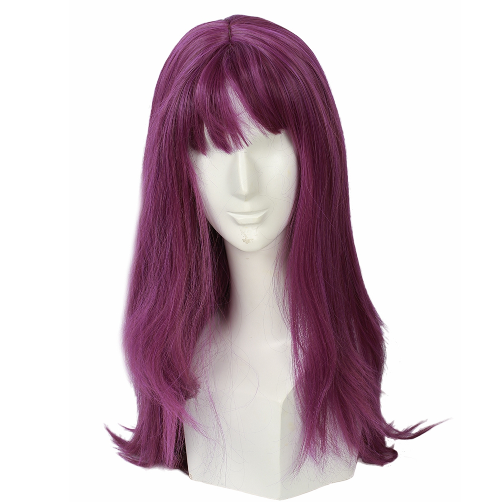 Descendants 2 Mal Purple Wig Movie Cosplay Costume Accessories Women Fashion Long Straight Wigs 2018 Halloween Party Girls Wig