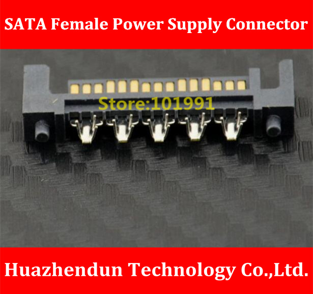 2PCS/LOT  Computer Power Supply SATA Female Connector  Hard Disk Power Supply Head    Used to Extend  the SATA  Cable huntkey power to calm the king rating standard 230w engineering computer host pc power supply