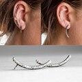 1 unids nueva Punk Rock Rhinestone ear cuff para la oreja pendiente cuff stud pendientes piercing del oído del cartílago mujeres clips oído de la joyería