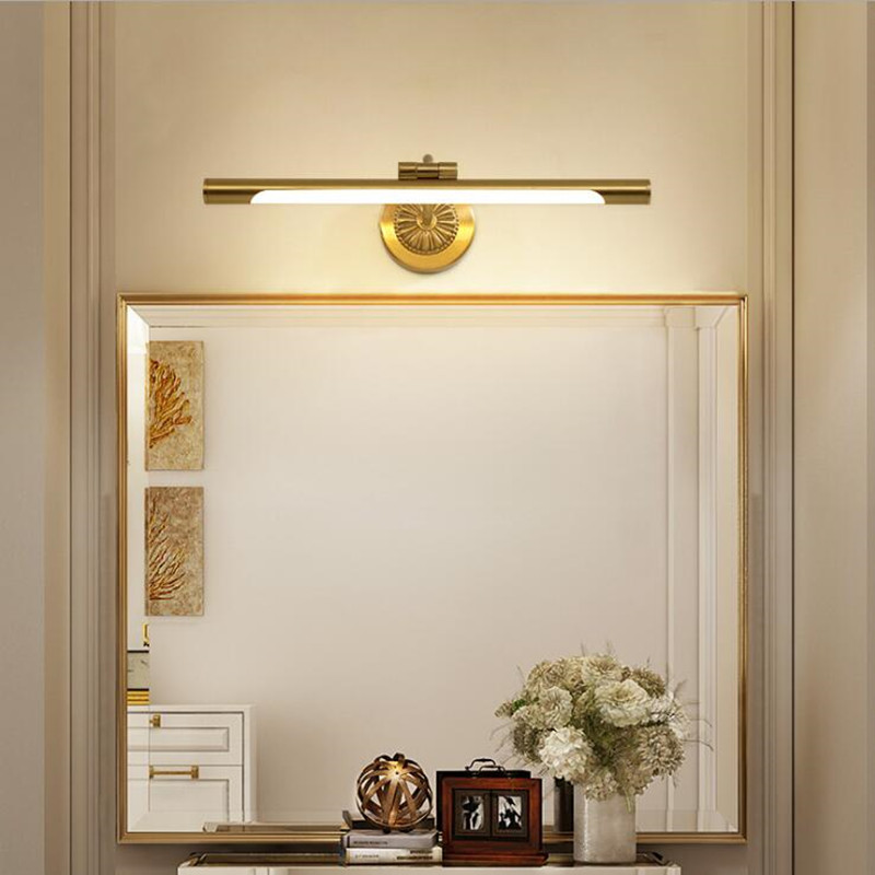 Lights & Lighting Obliging European Copper Mirror Lamp For Bathroom Led Cabinet Lamps Fashion Makeup Hanglamp Home Deco Toilet Wall Sconce Light Fixtures To Suit The PeopleS Convenience Led Indoor Wall Lamps