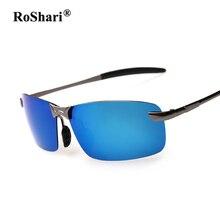 RoShari aviator gafas de sol polarizadas de los hombres de Diseño Clásico Espejo Antideslumbrante coche de Conducción gafas de sol de los hombres gafas de sol hombre