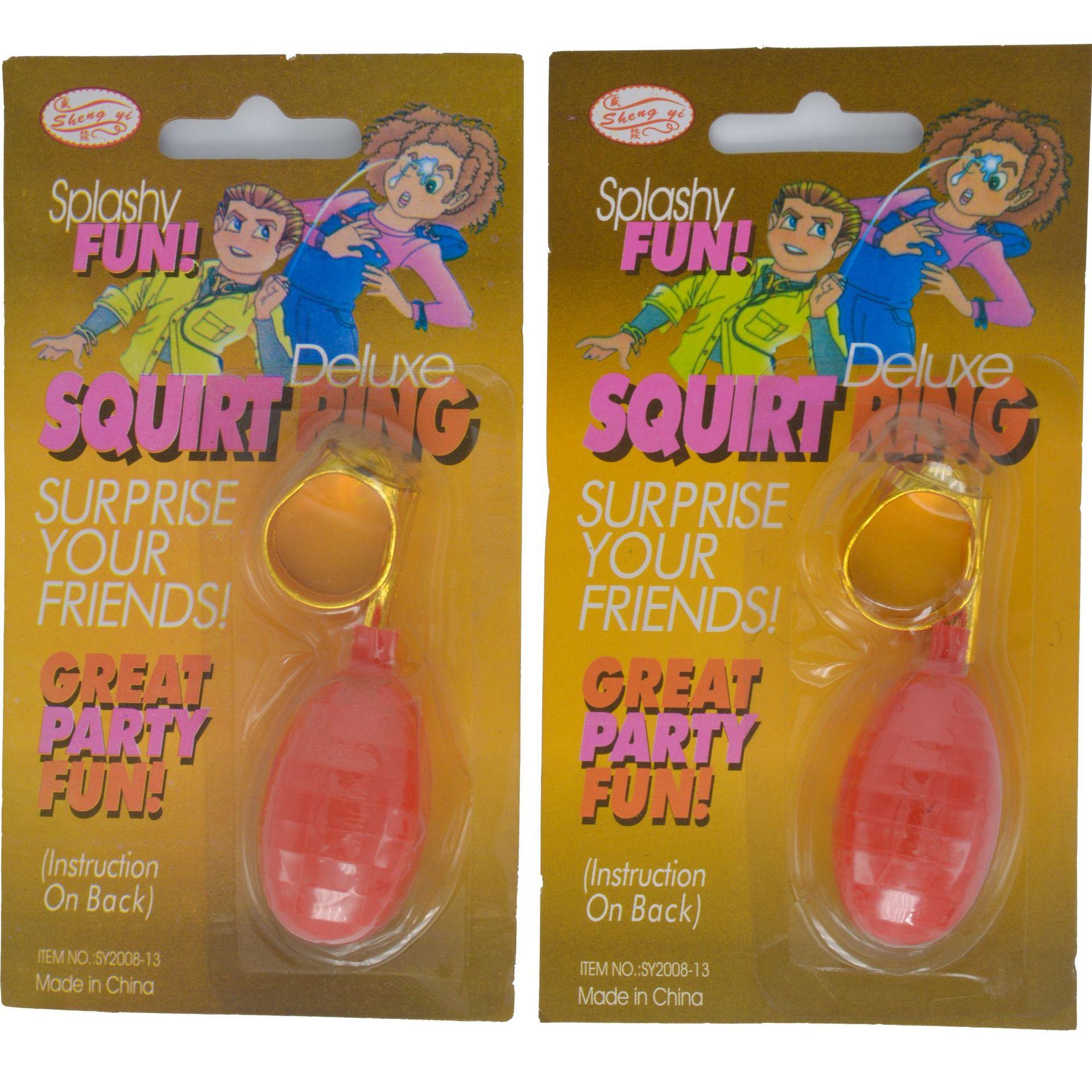 Воды распылительное кольцо шутки кольцо трюковое кольцо игрушки Многоцветный шутки Вечерние развлечения реалистичная модель спасательного круга Декор Игрушка Игрушки