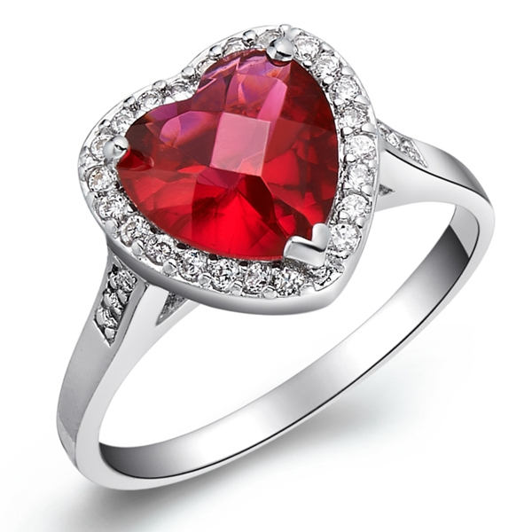 abed6a3d7 Purple Heart Anillos De Plata Crystal Jewellery Pink Stone Ring Women Joias  Multicolor Engagement Rings Mothers Gift Ulove J074-in Rings from Jewelry  ...