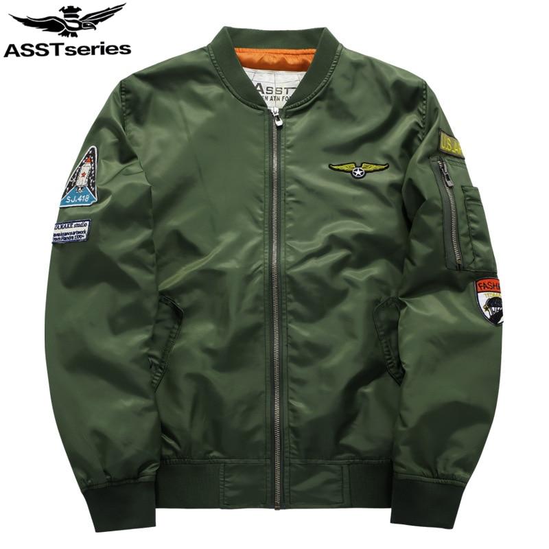 Katonai dzseki Férfi férfi MA-1 stílus hadsereg taktikai baseball kabát Bomber dzsekik és kabátok férfiaknak Férfi katonai Chaqueta .DA02