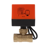 Electric Motorized Brass Ball Valve DN25 DN20 DN15 AC 220V 2 Way 3 Wire With Actuator