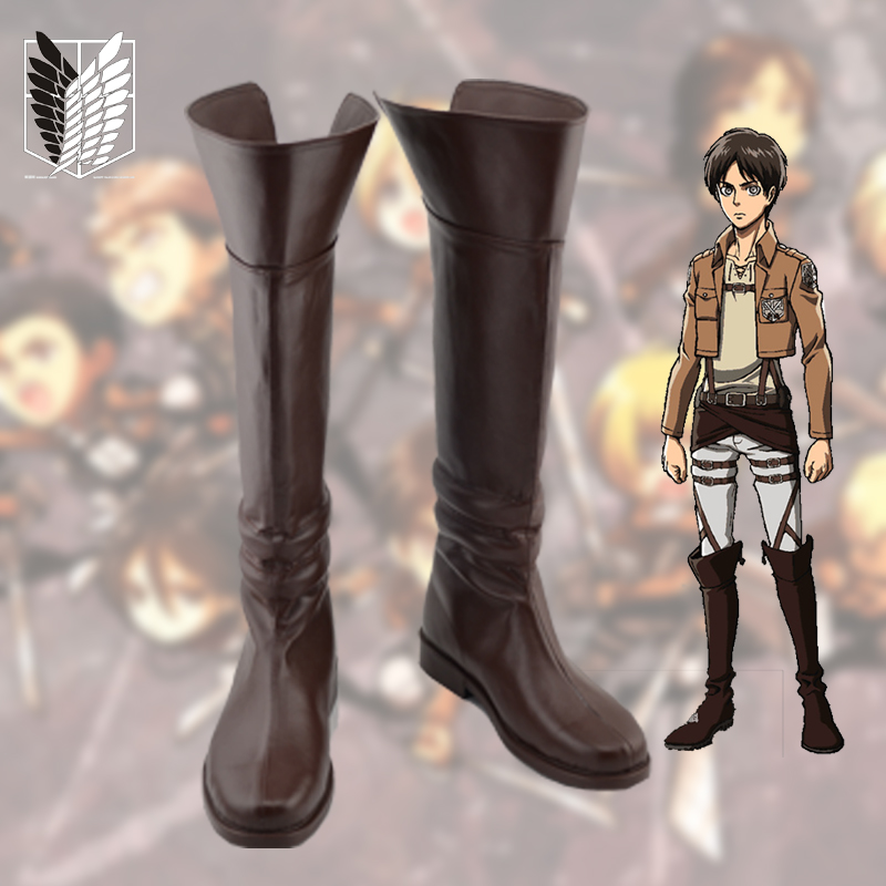 Anime Shingeki no Kyojin Shoes Attack on Titan Cosplay Boots