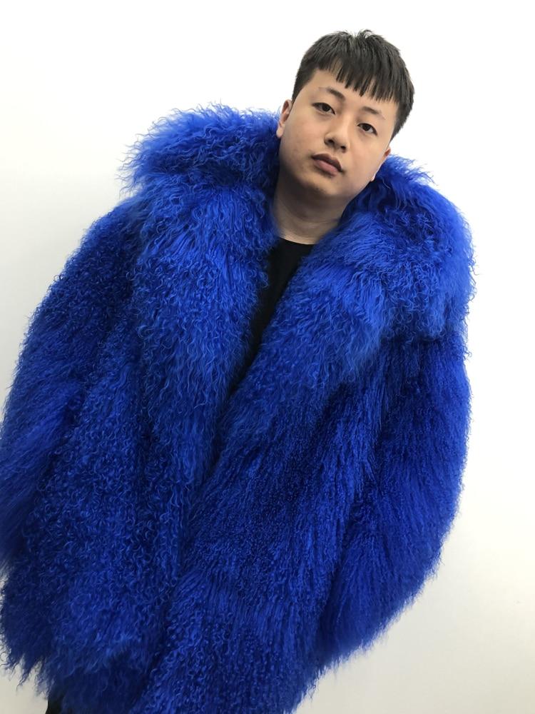 HTB1UaYaXND1gK0jSZFKq6AJrVXa8 2019 Men's real mongolian sheep fur coat hooded warm winter outerwear lapel beach wool fur overcoat long sleeve Jacket