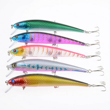 Floating Artificial Bait 12.5cm 17g Plastic Fake Fish Cheap Fishing Tackle Minnow Wobbler Pike Fishing Accessories LD-M0011