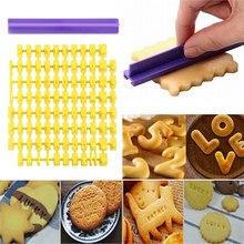 Número da letra do alfabeto biscoito cortador de biscoito imprensa selo embosser bolo molde fondant carimbo embosser diy bolo pastelaria molde bakewar