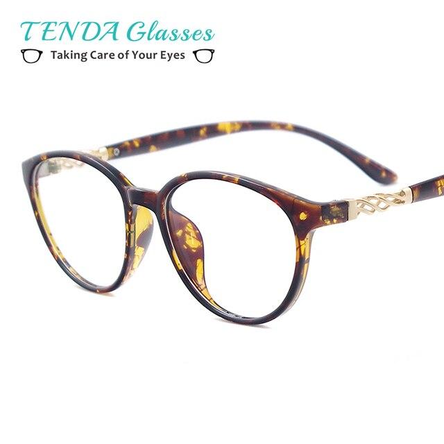Fashion Plastic Designer Oval Spectacle Frames Prescription Eyeglass Frames  For Women For Myopia Reading Lenses-in Eyewear Frames from Women\'s ...