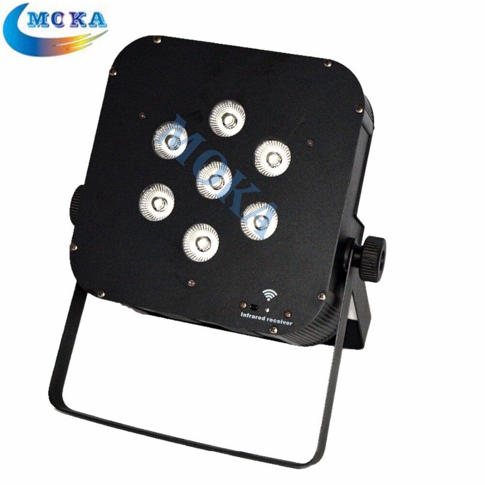 High quality Stage Effect Par Can DJ Lighting Battery LED Flat Par Disco Lightings for sale