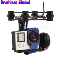 Wholesale 1set FPV 2 Axle Brushless Gimbal With Controller For DJI Phantom GoPro 3 4 Dropship