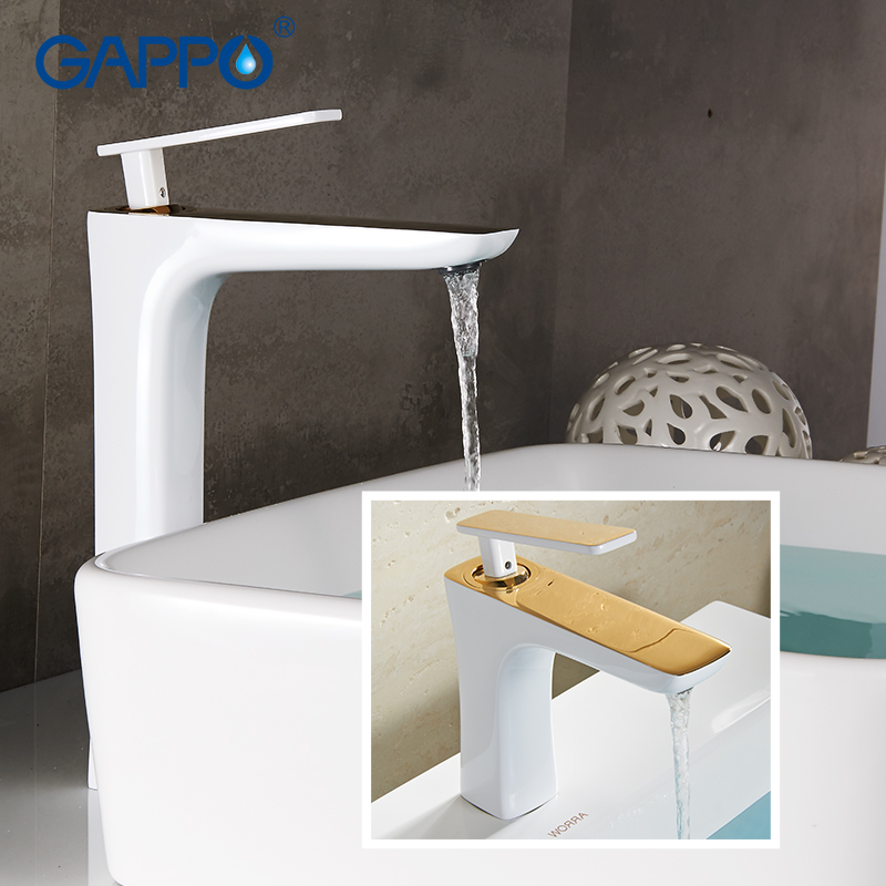 GAPPO Basin Faucets bathroom taps mixer water waterfall faucet basin mixer bath faucet tap water sink mixer basin faucets modern white bathroom faucet waterfall faucets single hole cold and hot water tap basin faucet mixer taps 6008