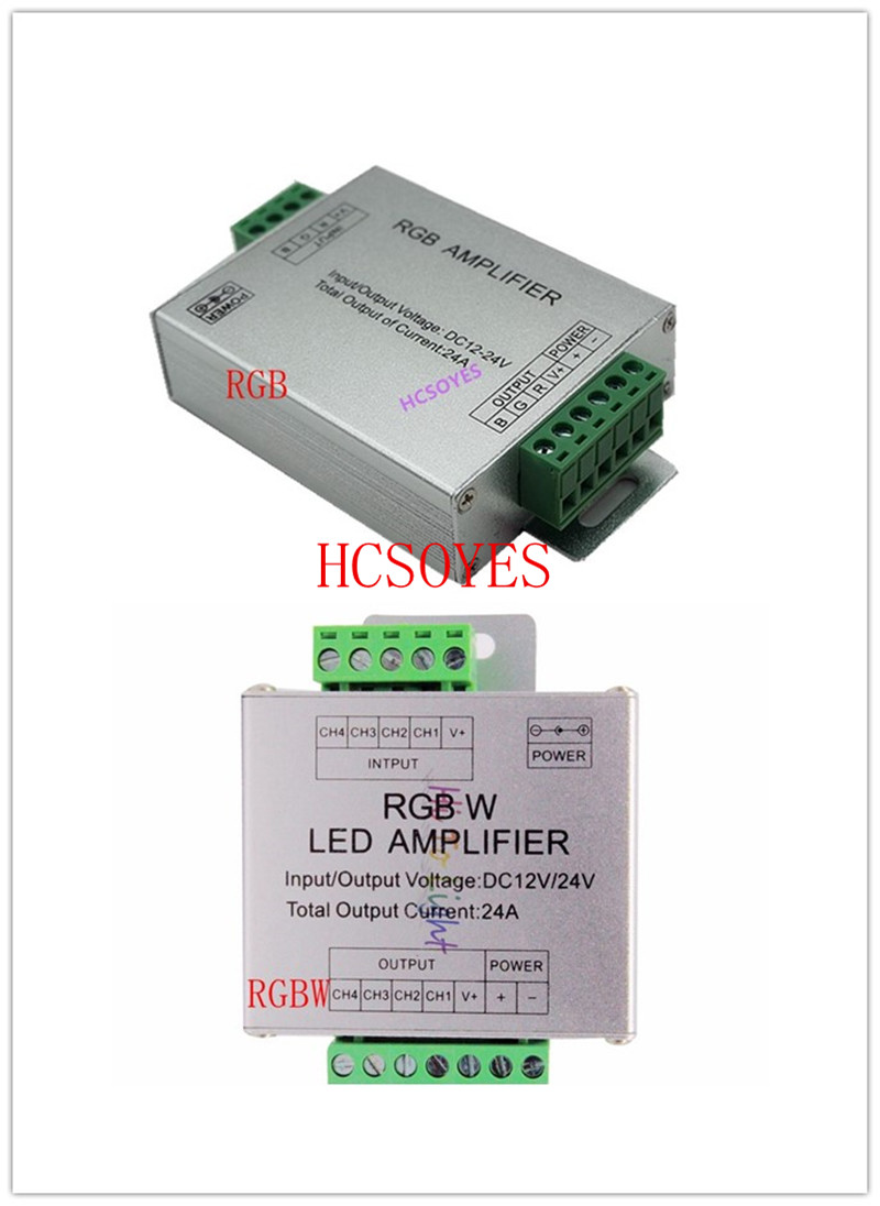 LED RGBW /RGB Amplifier DC12 - 24V 24A 4 Channel Output RGBW/RGB LED Strip Power Repeater Console Controller
